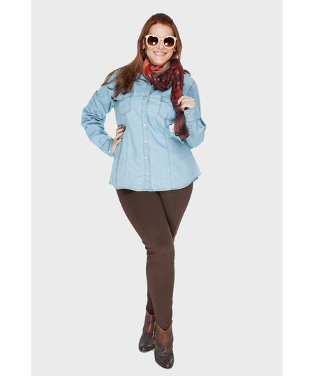 Camisa Blue Jeans Plus Size
