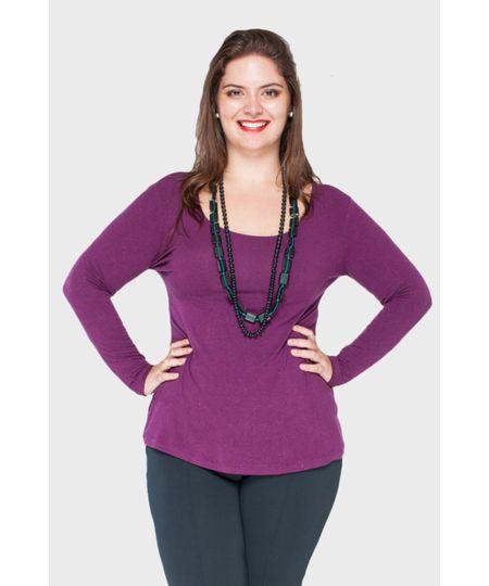Blusa Básica Viscolycra Plus Size