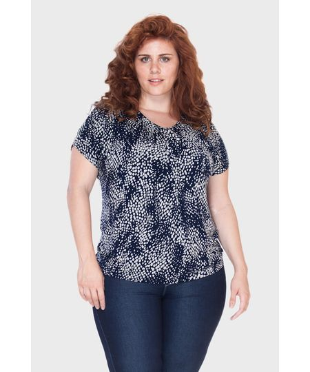 Blusa Poá Irregular Plus Size