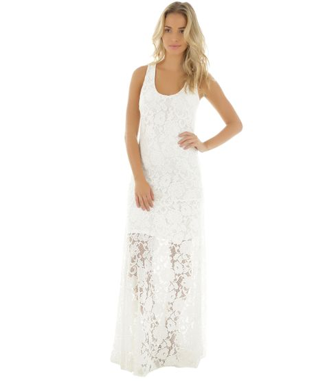 Vestido-Longo-em-Renda-Cia--Maritima-Off-White-8427967-Off_White_1