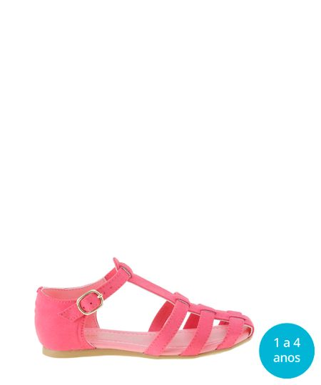 Sandália em Suede Cia. Marítima Pink