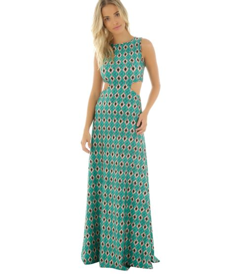 Vestido-Longo-Estampado-Trancado-Cia--Maritima-Verde-Claro-8483137-Verde_Claro_1