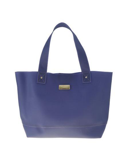 Bolsa Shopper Cia. Marítima Azul Marinho