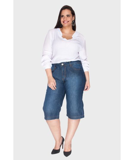Pantacourt Jeans Plus Size