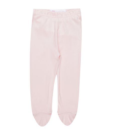 Calça em Algodão + Sustentável Rosa Claro