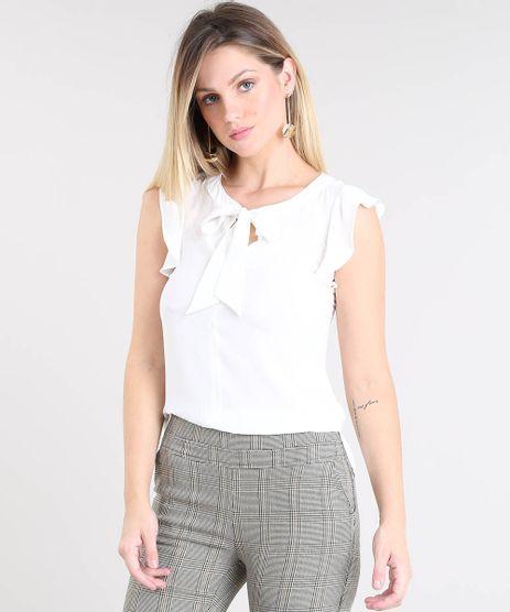 c31694d498 Blusa Com Gola De Laco em promoção - Compre Online - Melhores Preços ...