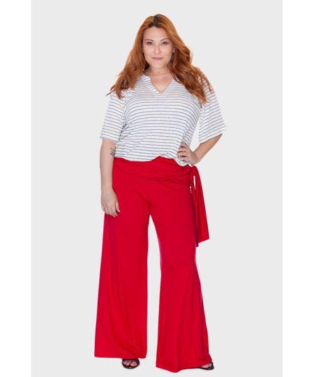 Calça Pantalona Laço Plus Size