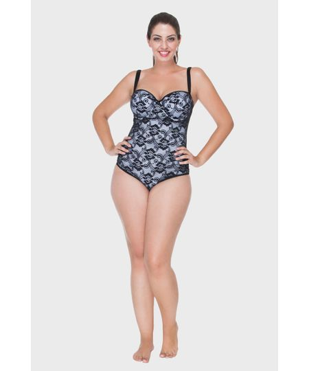 Body Com Tule Plus Size