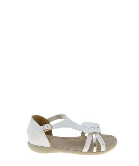 Sandália com Borboleta Branca