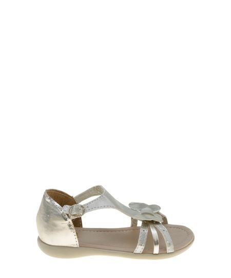 Sandália com Borboleta Dourada
