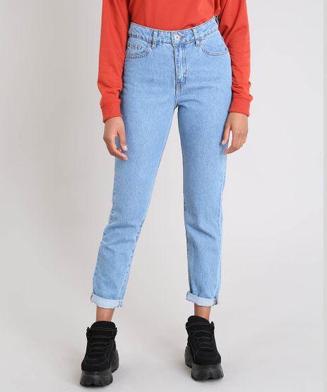 a727d12b47b1c Calça Jeans Feminina Mom Azul Médio