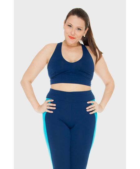 Top Bicolor Fitness Plus Size