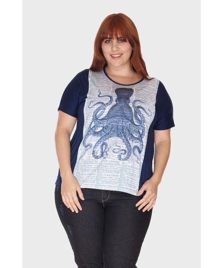 Blusa Estampa Polvo Plus Size