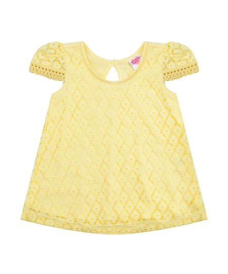 Blusa em Renda Amarela