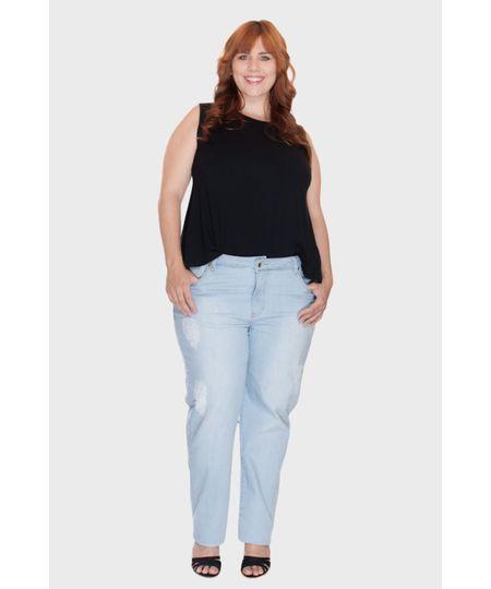 Calça Skinny Delavê Plus Size