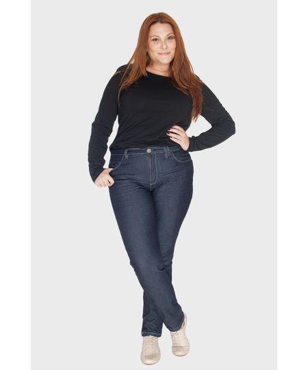 Calça Jeans Skinny Amassado Plus Size