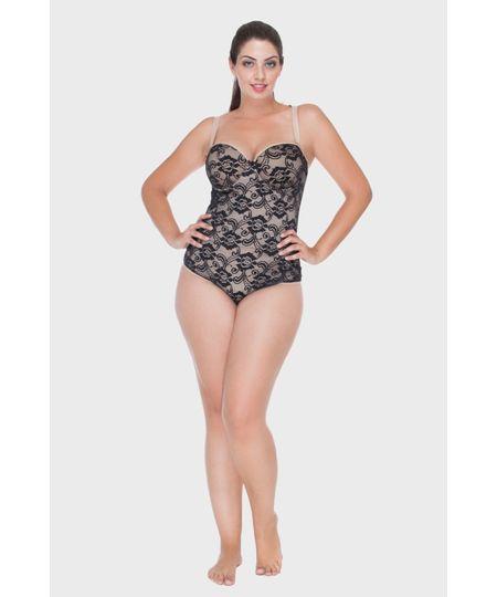Body Com Tule Plus Size