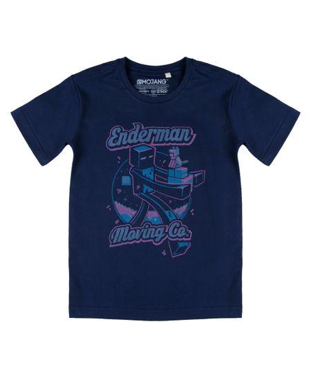 Camiseta Minecraft Azul Marinho