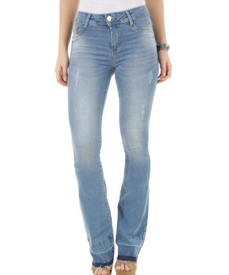 Calça Jeans Flare Sawary Azul Médio