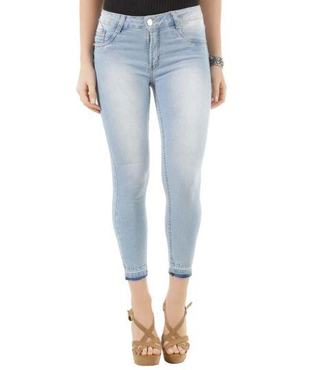 Calça Jeans Capri Sawary Azul Claro