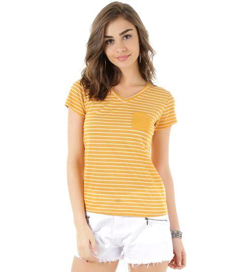 Blusa Listrada Amarela