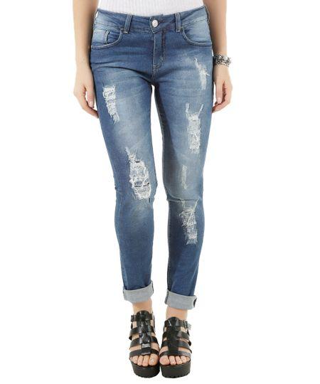 Calça Jeans Skinny Azul Médio