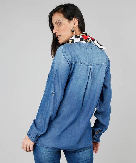 e758be68d3 Blusa Jeans Feminina em promoção - Compre Online - Melhores Preços