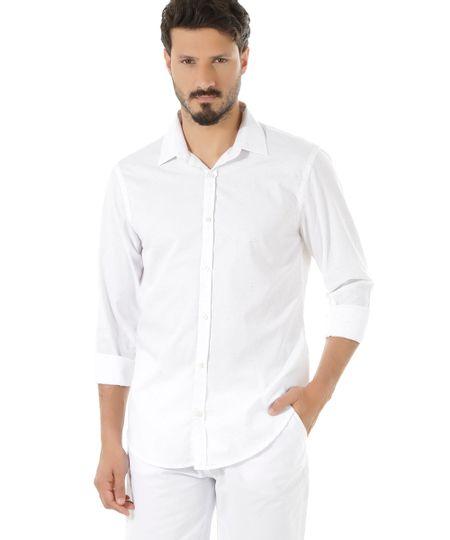Camisa Comfort Botonê Branca