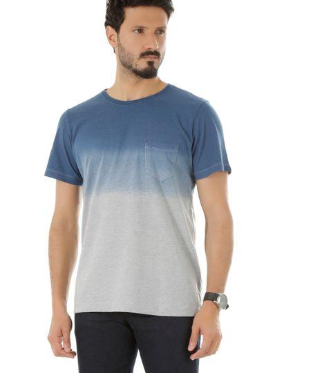 Camiseta Estampada Degradê Azul