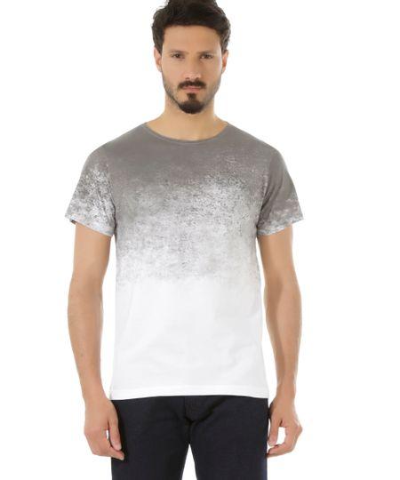 Camiseta Degradê Branca