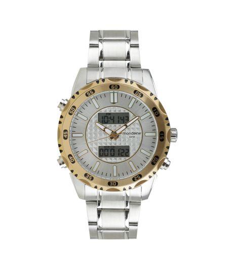 Relógio Mondaine Analógico Digital Masculino - 94949GPMVBA1 Prateado