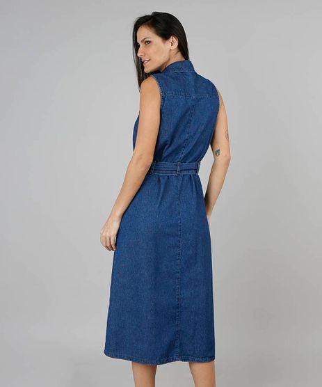 68b34a976 Vestido Jeans Feminino em promoção - Compre Online - Melhores Preços ...