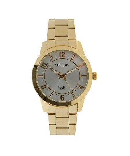 Relógio Analógico Seculus Feminino - 28667LPSVDA1 Dourado