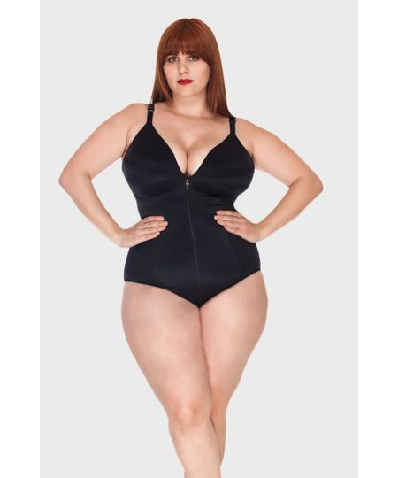 Body Modelador Zíper Plus Size