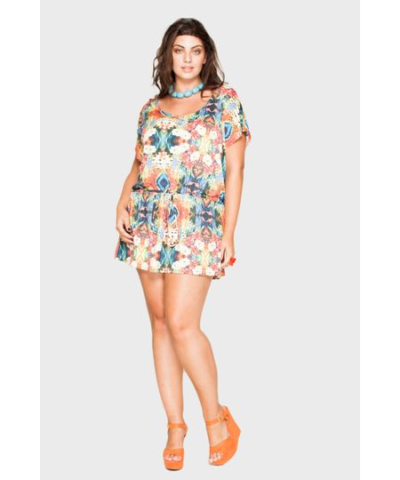 Saída August Flores Plus Size