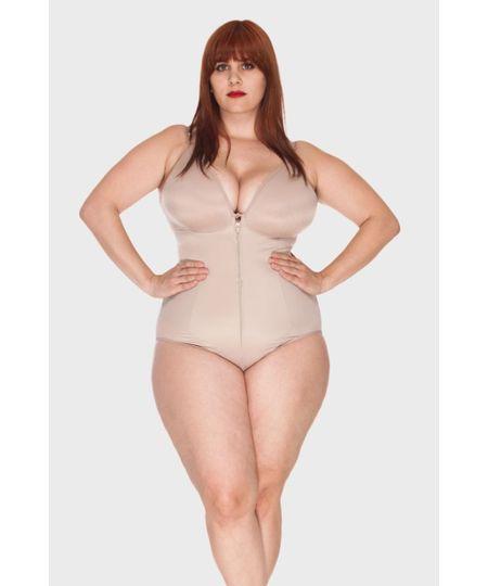 Body Modelador Zíper Plus Size