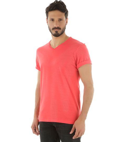 Camiseta Listrada Vermelha