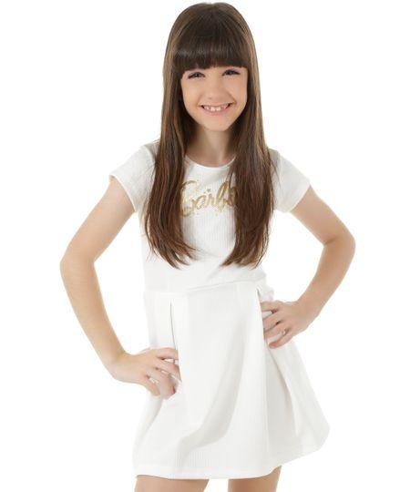 Vestido Barbie Off White