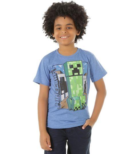 Camiseta Minecraft Azul