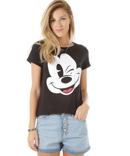 Blusa Mickey Preta