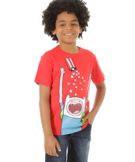 Camiseta Hora de Aventura Vermelha