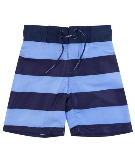 Bermuda Listrada Azul