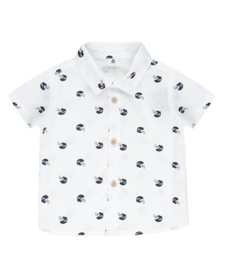 Camisa Estampada Off White