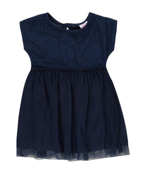 Vestido-de-Renda-com-Tule---Faixa-de-Cabelo-Azul-Marinho-8457701-Azul_Marinho_1