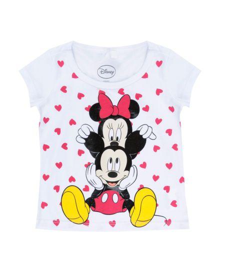 Blusa Mickey + Minnie Branca