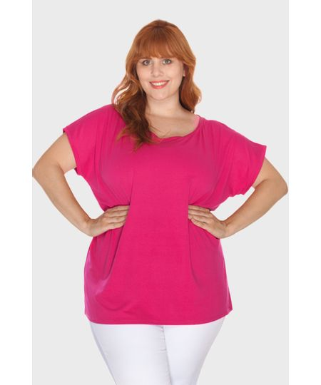 Blusa Ombro Caído Plus Size
