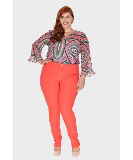 Calça Bengaline Zíper Plus Size