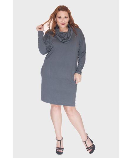 Vestido Gola Boba Plus Size