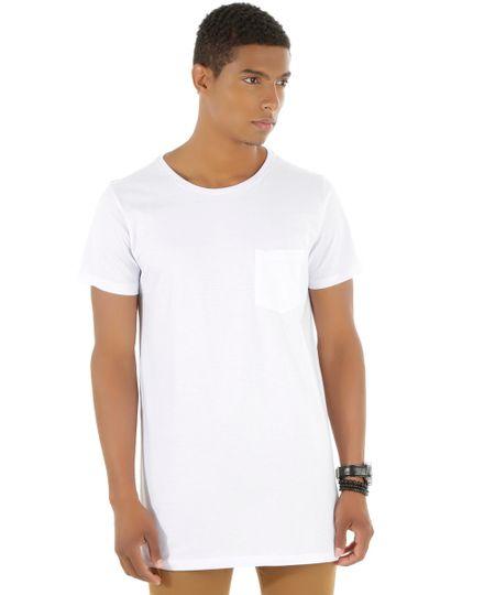 Camiseta Básica Longa Branca
