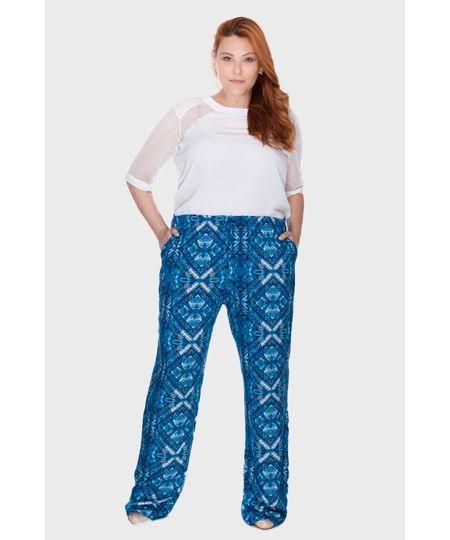 Calça Pijama Azul Plus Size